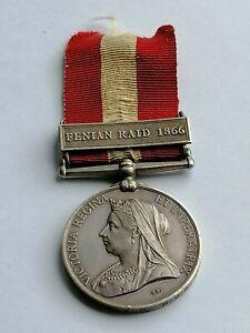 Fenian Raid Medal, Jas Newland, H.M.S.Aurora, British medal, Crimea Vet, Centaur