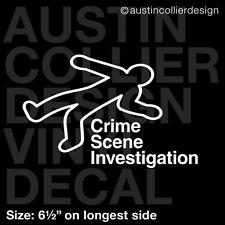 "6.5"" CRIME SCENE INVESTIGATION vinyl decal car window laptop sticker - csi"