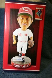 TOMMY HELMS CINCINNATI REDS HALL OF FAME BOBBLEHEAD STATUE