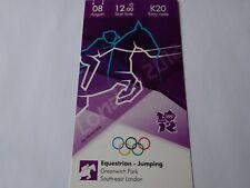 Juegos Olímpicos de Londres 2012 billete de salto ecuestre 8th Agosto! como Nuevo!