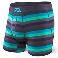 Saxx 1723 Mens Ultra Fly Nightshade Stripe Boxers Size Medium