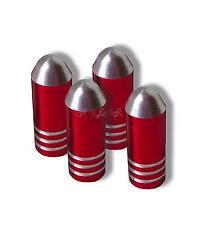 RED  Bullet Dust Caps car bike bmx valve tyre bullit tire dusty hotrod  alloy