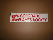 CHL Colorado Flames Vintage Defunct Bumper Sticker