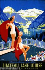 Canadian Pacific Chateau Lake Louise Canada Travel Vintage Advertisement Poster