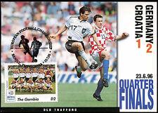 Football Maxicard 1996 Germany V Croatia Handstamped #C26320