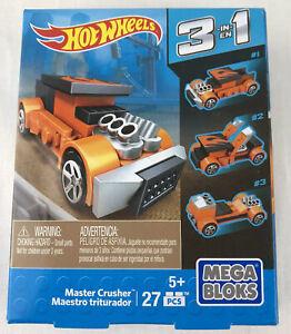 New Mega Bloks Hot Wheels Master Crusher 3 in 1 Building Set 38210