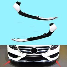 New Fit Mercedes Benz W205 C300 C350 L+R Front Bumper Lower Lip Chrome Trim