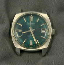 Vintage Ventura 17 Jewels Watch - Date, Teal Blue