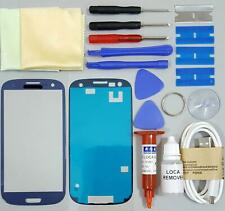 Samsung Galaxy S3 Front Glass Screen Replacement Repair Kit PEBBLE BLUE