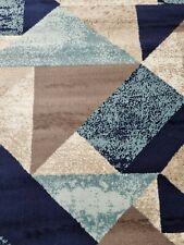 Quality Rug Navy Blue Beige Brown 160cm x 230cm Soft Touch Living Room Carpet
