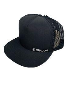 Dragon Alliance Black Foam Tucker Snapback Mesh baseball cap