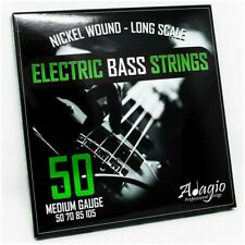 More details for 50-105 electric bass strings set - long scale nickel wound medium - adagio pro