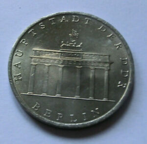 5 Mark DDR GDR Hauptstadt der DDR Berlin Brandenburger Tor Gedenkmünzen 1971 A