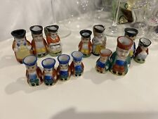 Lot Of 13 Mini Toby Jug Occupied Japan Miniature- 6 Are 1 1/2�, 7 Are 2 1/2�