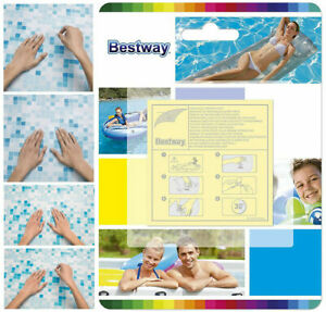 Bestway Adhesive Repair Patches 10 Pack Heavy Duty Spa Pool leak Kit Lazy Z HDRP