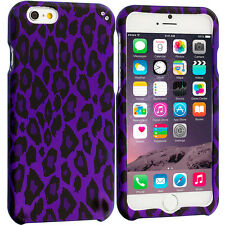 For Apple iPhone 6S (4.7) Hard Design Protective Case Cover Purple Leo