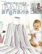 Color Me Cute Baby Afghans Crochet Instruction Patterns Anne Halliday LA #3266