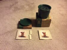 """Longaberger Ivy Woven Traditions Candle Crock & Lid with 4"""" Pillar Candle"""