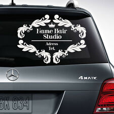 Wall Auto Glass Decal Sign Hair Salon Custom Name Beauty Signboard Title M1756