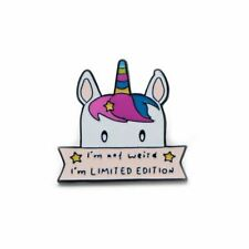 Enamel Pin Badges - Set of 1 - Rainbow Unicorn I'm Not Weird - EB0105
