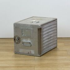 SWISS Flugzeugtrolley Box, Original Catering Box in silber