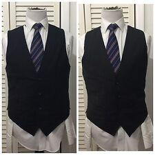 Lot of 2 DOLCE GABBANA Men's Suit VEST Wool Blend Blue Gray Size 50 ITALY