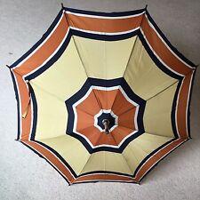 Vintage Retro Mid Century Yellow Orange Black Peerless Large English Umbrella