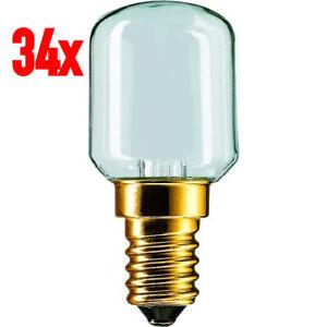 34x Philips T25 25W E14 230V Softone Matte Satin Lamp 25x57mm 25-Watt 230-Volt