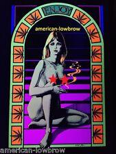Sunshine Enjoy Marijuana Pot Psychedelic Art Blacklight Poster Woodstock