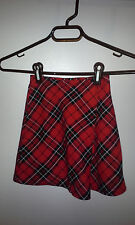 """Red plaid """"school girl"""" Expressions seperates skirt girls size 4/5"""