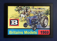 Britains Toy Models 1969 Farm A4 Size Framed Poster Shop Display Sign Leaflet Ad