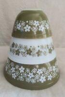 Pyrex Mixing Bowl Spring Blossom Crazy Daisy 401 & 402 & 403 White Green