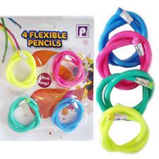 4x Kids Flexible Magic Pencil Eraser Colourful Soft Children School Fun Bag Loot