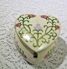Vintage Towle Porcelain Heart Trinket Box made in Japan