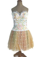 Vintage 1980s Bob Mackie Women's Ballerina Lace Tulle Cocktail Party Dress 6