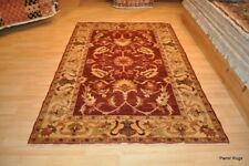 5x7 ft. TOP QUALITY Floral design vegetable dye RUG natural RED, GOLD, BEIGE