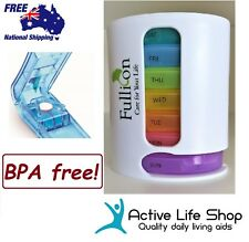 Pill Organiser 7-day Pill Box Dispenser 4 Compartment Travel PREMIUM BPA-FREE!!