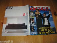 OGGI 1999/13=ROBERTO BENIGNI SOFIA LOREN 3 OSCAR FILM LA VITA è BELLA