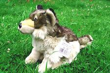 Wolf, sitzend grau-braun gestromt 25 cm