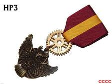 Steampunk brooch badge Medal pindrape Harry Potter Gryffindor Hogwarts owl #HP3