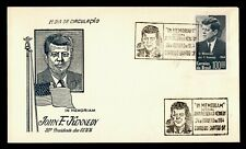 1964 BRAZIL FDC JOHN F KENNEDY JFK MEMORIAM CACHET