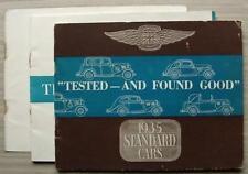 STANDARD CARS Sales Brochure 1935  SPEEDLINE Tickford NINE Ten TWELVE Coupe ++