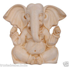 "5"" BIG EAR GANESH GANESHA STATUE HANDMADE POLY MARBLE HOME DECOR ART BEST GIFT"