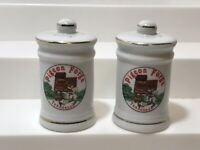 Vintage Pigeon Forge TN Scenic Souvenir Salt and Pepper Shakers EUC