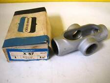 """Crouse-Hinds 1 1/2"""" Conduit Body Outlet Box X57 NIB NEW X 57 30 DAY WARRANTY"""