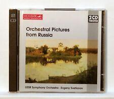 SVETLANOV - BORODIN MUSSORGSKY KALINNIKOV orchestral pictures MELODIYA 2xCDs NM