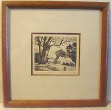 Anthony Buchta (1896-1967) - Snow Covered Hills - Etching - Chicago – Rare