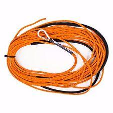 "50' x 3/16"" AmSteel Blue Mainline Synthetic UTV ATV Winch Rope Line Cable ORANGE"