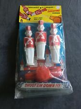 Shoot'em Down 5 piece Soldier Set with Shooting Cannon USA New Rare Vintage Toy
