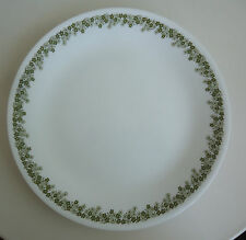 Vintage Corelle Corning Dinner Plate *Green Crazy Daisy / Spring Blossom